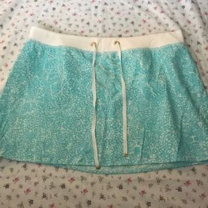 Light Blue and White Lilly Pulitzer Hayden Skirt